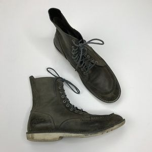 timberland moc toe leather lace up boots 17582